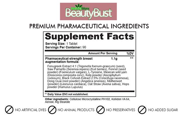 BEAUTY BUST – HERBAL BREAST ENLARGEMENT FORMULA