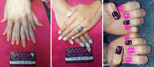 ​Sassy Salon and Spa, Roodepoort, Johannesburg, Gauteng, Nails, Acrylic, Gel, Silk, Fibre, Hair, Hair Extensions, Permanent Make-Up, Lash Extensions, Manicures and Pedicures, Waxing & Tinting, Massages, Sunbed, Packages, Weddings, Special Occasions